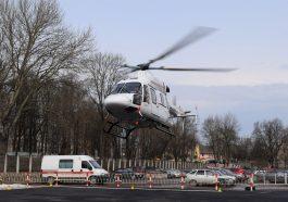 Медицинский вертолет Ансат компании Русские Вертолетные Системы